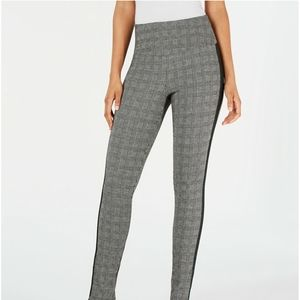 INC Glen Plaid Shaping Leggings with Extended Size